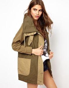 two-tone army jacket