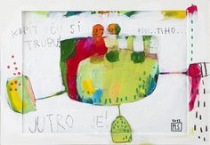 Original Art Print  I will buy a trumpet painting by MirnaSisul, $20.00