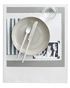 make a personalized place mat using high school photos from the yearbook - great way to decorate for a high school reunion