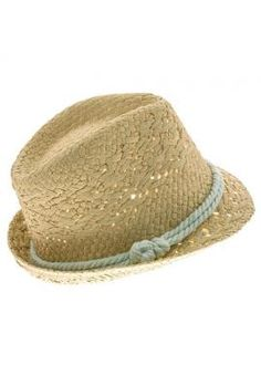 Summer Fields Straw Fedora Hat with Mint Rope Cord Trims | Sincerely Sweet Boutique