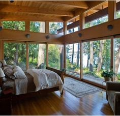 beautiful bedrooms with a view | Room with a view - truly beautiful!