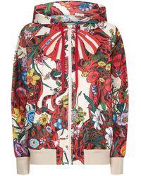 c8c6b0903 Gucci - Flora Tiger Print Hoodie, Red, Xxs - Lyst   jackets   Gucci ...