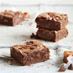 Dark Chocolate Brownies with Caramel Filled DelightFulls(TM) Allrecipes.com