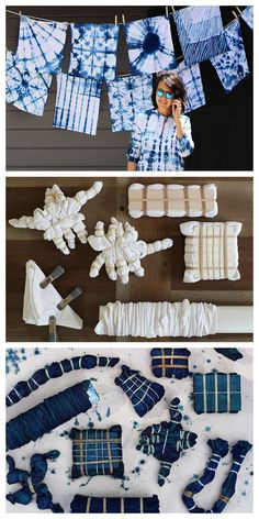 Shibori Dyeing Tutorial from Honestly WTF. (True Blue Me and You: DIYs for Creatives) DIY Shibori Dyeing Tutorial from Honestly WTF.DIY Shibori Dyeing Tutorial from Honestly WTF. How To Tie Dye, How To Dye Fabric, Dyeing Fabric, Kids Tie Dye, Shibori Fabric, Patterns Background, Tie Dye Folding Techniques, Fabric Dyeing Techniques, Tie Dying Techniques