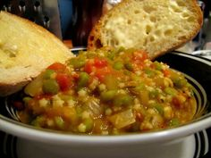 Pretty Zesty: Thick as Fog Pea Soup with Pastina!