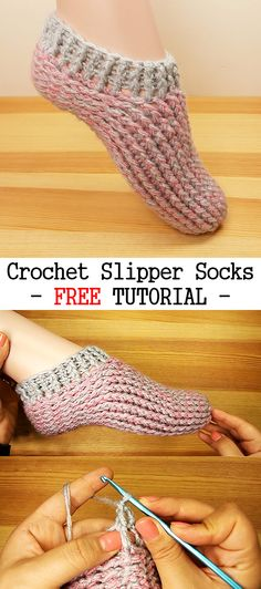 Crochet Easy Slippers Socks Record of Knitting Wool rotating, weaving and stitching jobs such as for example BC. Crochet Boots, Crochet Baby, Knit Crochet, How To Crochet Slippers, Free Crochet, Easy Crochet Patterns, Crochet Stitches, Knitting Patterns, Crochet Crafts