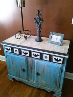 Heavily distressed dresser