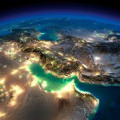 Потрясающие фотографии ночной земли из космоса « FotoRelax
