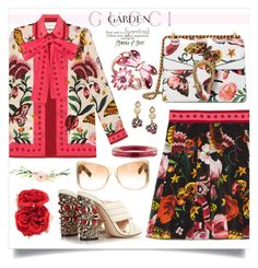 """""""Gucci Garden Collection"""" by obriendeb812 ❤ liked on Polyvore featuring Gucci, Pottery Barn, gucci and gardencollection"""