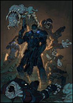 Gears of war By Carlos Gomez by luxun