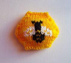 Hexipuff chart - Little Honeybee by Ravelry user  baroquepurls
