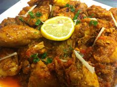 Chicken Karahi Recipe Heat oil in a deep fry pan. Cook Chicken in it for five minutes. Now Grind Onion and add it into Chicken. Tomatoes and stir for more four minutes. Add Red chili powder, CORIANDER powder, salt, garlic (Lehsan) paste, ginger (Adrak) paste now stir for more few till its oil and Karahi…