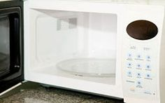 how to clean burnt smell from microwave