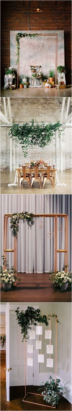 Copper and greenery wedding color ideas / http://www.deerpearlflowers.com/copper-and-greenery-wedding-color-ideas/