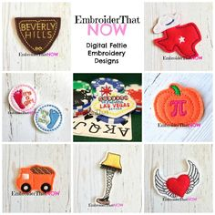 Digital Feltie Embroidery Designs https://www.etsy.com/shop/EmbroiderThatNow