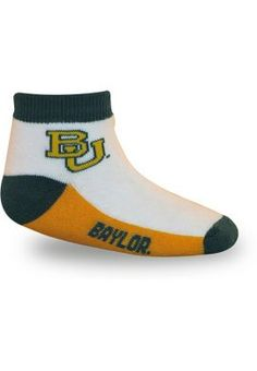 Cute #Baylor infant socks! ($6.00 at Baylor Bookstore)