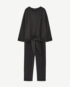 Image 8 of CONTRAST POPLIN JUMPSUIT from Zara