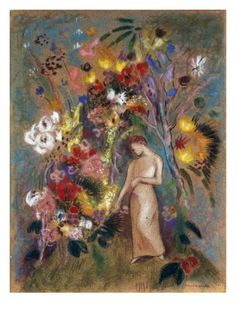 Woman in Flowers, 1904 Giclee Print by Odilon Redon at Art.com