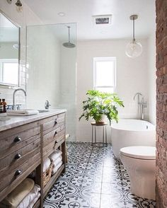 ... Which Balance Out Sturdy Wooden Furniture And Powerful Architecture In  This Brooklyn Home. The Recently Renovated Bathrooms Add A Touch Of New To  The