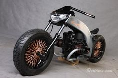 Found this bithcin Ural Custom Bike...  Unfortunately, I can't find the details do to the fact that I'm not a Russian speakin...