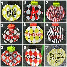 PERSONALIZED Metal Christmas Ornaments  by embellishboutiquellc, $9.00
