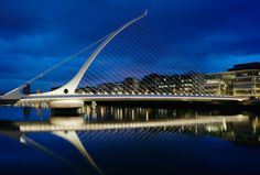 Samuel Beckett Bridge. Dublin, Ireland. Design by Santiago Calatrava