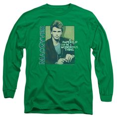 MACGYVER/WONDEROUS PAPERCLIP-L/S ADULT 18/1-KELLY GREEN