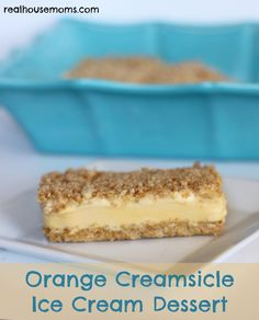 Orange Creamsicle Ice Cream Dessert •4 cups low fat honey graham cracker crumbs (or to save time, you can buy the pre made graham cracker crumbs) •¾ cup sugar •1 cup butter, melted •3-1/2 quarts vanilla ice cream, softened (I use Dreyer's Slow Churned Classic Vanilla-it has ½ the fat and ⅓ fewer calories than regular ice cream) •2 cans (12 ounces each) frozen orange juice concentrate, thawed
