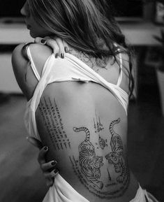 Back Tattoos 34877 Cool tiger tattoos on back for girls - c. - Back Tattoos 34877 Cool tiger tattoos on back for girls – cool … – Fanta - Tattoo Girls, Tattoo Son, Back Tattoo Women, First Tattoo, Girl Tattoos, Tatoos, Guys With Tattoos, Cool Tattoos For Girls, Tattoo Neck