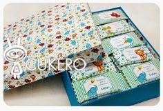 Cajas personalizadas con chocolates de Cukero Papelería