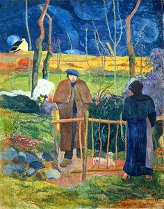 """bom dia monsieur Gauguin, 1889  Retrospectiva Paul Gauguin na Fundação Beyeler, Suiça   http://gabineted.blogspot.com.br/2015/02/retrospectiva-paul-gauguin-na-fundacao.html  """"A natureza tem poderes infinitos misteriosos e imaginativos. E está sempre variando as produções que ela oferece para nós. O próprio artista é um desses meios"""". Paul Gauguin"""