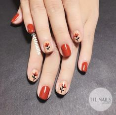 Nails Art Ideas Flowers Nailart 34 Ideas For 2019 Nail Swag, Red Nails, Hair And Nails, Fall Nails, Red Nail Designs, Super Nails, Nail Arts, Nails Inspiration, How To Do Nails
