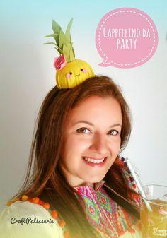 Felt Pineapple party hat, handmade CraftPatisserie