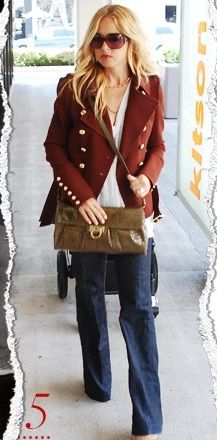 I own pretty much these same jeans thanks to my friend Rachel:) The fitted blazer is a great wardrobe staple (I love this rust color)