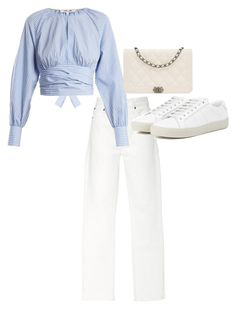 """""""Untitled #23628"""" by florencia95 ❤ liked on Polyvore featuring RE/DONE, Diane Von Furstenberg, Chanel and Yves Saint Laurent"""
