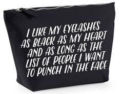 Etsy Canvas Makeup Bag, £8.00 | 17 Gifts For People Who Wear All Black Everything