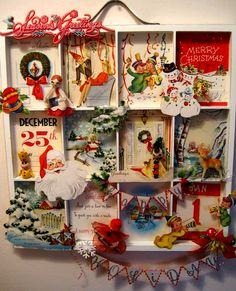 Christmas shadow box - great idea, you could also tun it into an Advent Calendar, hmm!
