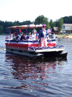 fourth of july boat decor