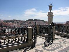 Miradouro de S.Pedro de Alcântara, Lisbon, Portugal