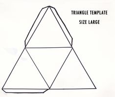 large triangle template