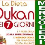 Schema della dieta Dukan dei sette giorni per il mercoledì