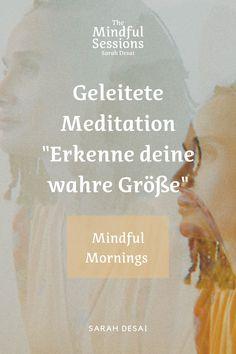 Mindful Mornings: In dieser geleiteten Meditation wirst du dich in ihr in deiner Ganzheit sehen, annehmen und schätzen. Dein Geist ist wie das Wasser. Wenn er sich beruhigt, wirst du deine wahre Größe erkennen. -> Mach es dir gemütlich, klick auf den Pin & höre dir die Folge direkt an. Much Love, Sarah ♡ #sarahdesai #themindfulsessions #mindfulmornings  (Morgen Routine, Geführte Meditationen auf Deutsch, Schamanismus, Buddhismus, Selbstbewusstsein, Selbstwert)