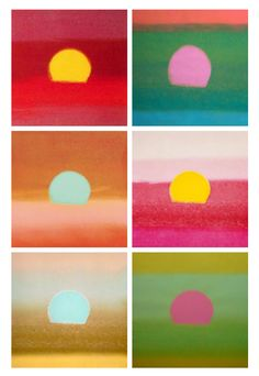 andy warhol's sunsets