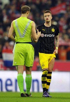 Manuel Neuer & Marco Reus, marco´s face