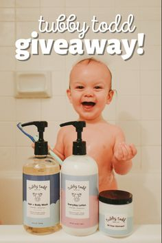 Enter to win a set of the Tubby Todd Essentials! You and a mama friend could each win a Tubby-sized set of the essential bath items!
