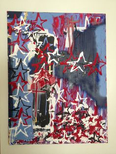 #art #painting #stars #abstract #AW #AndyAW #artist  36 x 48