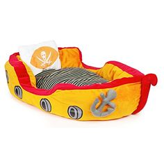 Dog Bed Large Pirate Ship Dog Kennel Orange 27 By 17 By 10 ** You can find more details by visiting the image link.