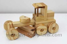Free wooden construction toy plans. Instant print ready PDF download from WoodworkingDownUnder.com