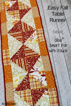 Ideas For Quilting For Beginners Table Runner Charm Pack Quilted Table Toppers, Quilted Table Runners, Fall Table Runner, Quilted Table Runner Patterns, Autumn Table, Diy Sewing Table, Sewing Ideas, Diy Table, Table Runner Tutorial