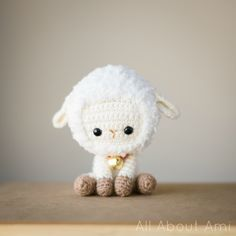 """Free crochet pattern for """"Chinese New Year Sheep/Lamb""""!  Working with fuzzy yarn gives such an adorable look!"""